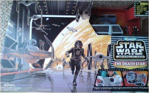 Vaders Tie Fighter Star - Star Wars Micro Machines Death Star w/ Darth Vader Tie Fighter Micromachines