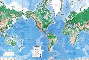 Environmental Graphics Giant World Map Wall Mural Dry Erase Surface Ama
