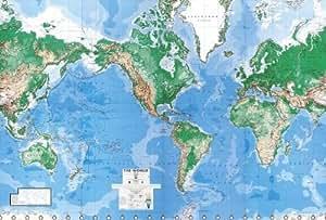 World Map Paper Wall Mural