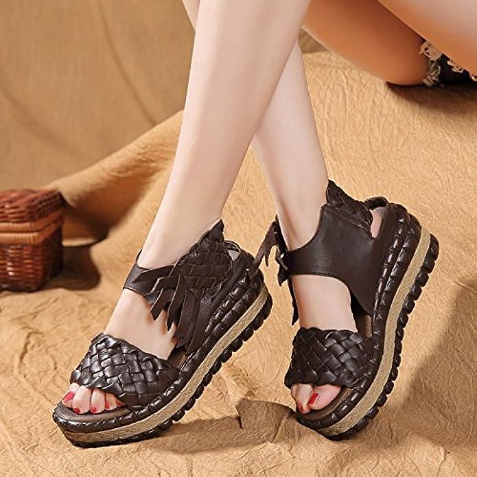 Sandali Con Zeppa Estiva Da Donna Open Toe Roman Shoes Taglia 35-40