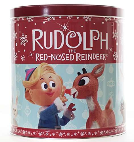 GiftPop Rudolph Assorted Flavors Popcorn, 24 Oz Tin