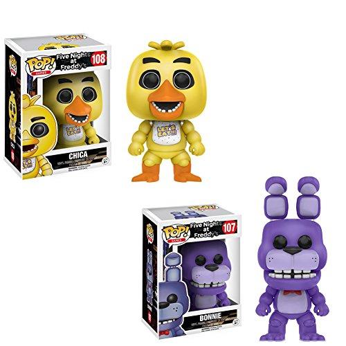 Funko Pop Games  Five Nights At Freddys   Bonnie   Chica Toy Figure Bundle