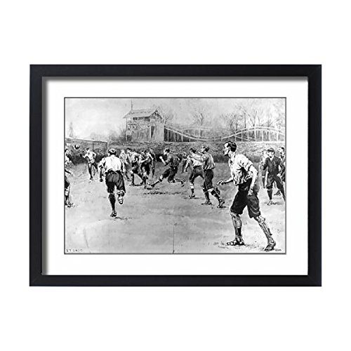 Framed 24x18 Print of Nottingham Forest vs. Derby County F.A. Cup Final, 1898 (4377428)