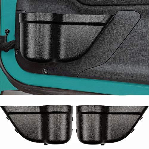 Lotyes Front Door Storage Box Side Pockets Organizer for 2011-2018 Jeep Wrangler JK JKU Interior Accessories