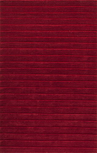 Metro Wool Area Rug (Momeni Rugs METROMT-23RED3353 Metro Collection, 100% Wool Hand Loomed Contemporary Area Rug, 3'3