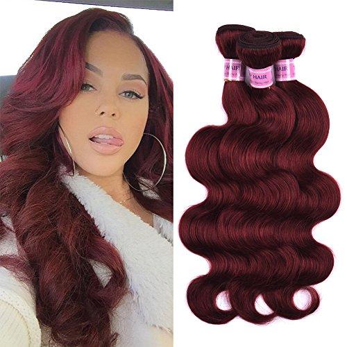 Top Hair Peruvian Virgin Human Hair Extension #33 Body Wave Peruvian Hair 3 Bundle Body Wave length 10-24inch 100g/Bundle (20'' 22'' 24'') by Top Hair
