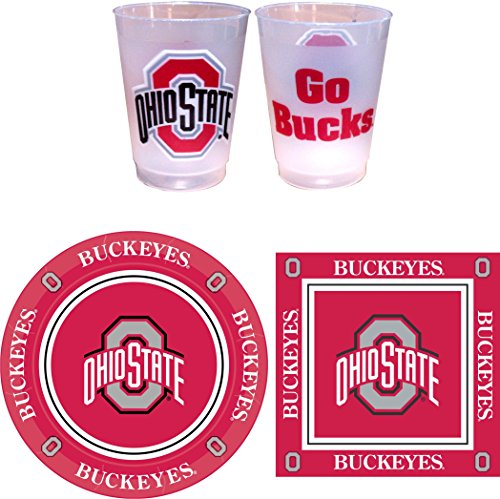 Ohio State Buckeyes Party Supplies - 81 pieces