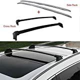 ANTS PART 4Pcs Roof Rack Side Rails + Cross Bars for Honda CRV CR-V 2017-2019 OE Style