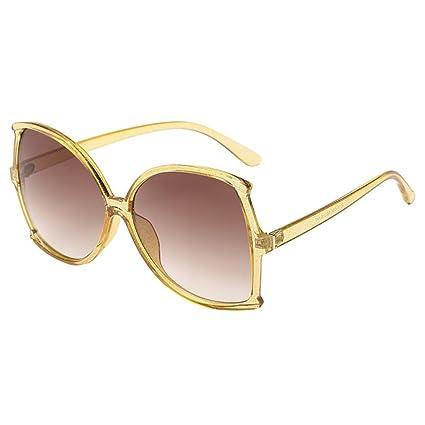 968a7d5e26 Amazon.com  Dainzuy Big Frame Irregular Flat Lenses Street Fashion ...