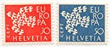 Switzerland 1961 Postage Stamp Set CEPT Europa Dove Made Of 19 Doves Issue Scott #410-411
