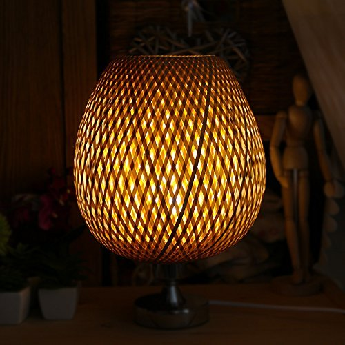 MILUCE Bamboo lamp shade decorative accessories handmade creative lamp shade ( Size : Colors Large 2526cm ) (Basket Lamp Shade)