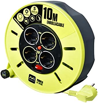Lucco CME10164SL-PX Enrouleur de c/âble 3000 W 250 V Gris//Vert Pistache