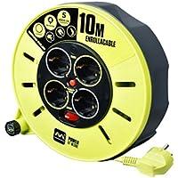 LUCECO CME10164SL-PX Enrollacable, 3000 W, 250 V, Gris/Verde