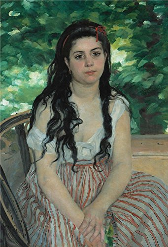 'Auguste Renoir En Ete La Bohemienne ' Oil Painting, 30 X 44 Inch / 76 X 112 Cm ,printed On Perfect Effect Canvas ,this High Quality Art Decorative Canvas Prints Is Perfectly Suitalbe For Dining Room Decoration And Home Gallery Art And Gifts