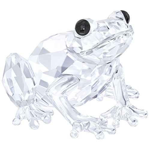 Swarovski Frog Figurine, Crystal, Transparent, 2.5 x 3.6 x - Swarovski Animal Crystal