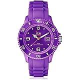 Ice SI.PE.B.S.09 - Reloj unisex con correa de caucho, color morado / gris