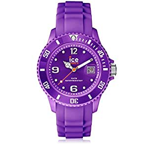 Ice-Watch Sili Collection SI.PE.U.S.09 - Reloj unisex de cuarzo, correa de silicona color morado