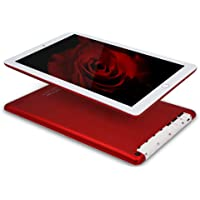 Tablet 10 Pulgadas 4G con WiFi 3GB de RAM, 32 GB de Memoria Interna Android 7.0 Quad Core con Dual Tarjeta Sim, GPS/Bluetooth—Rojo