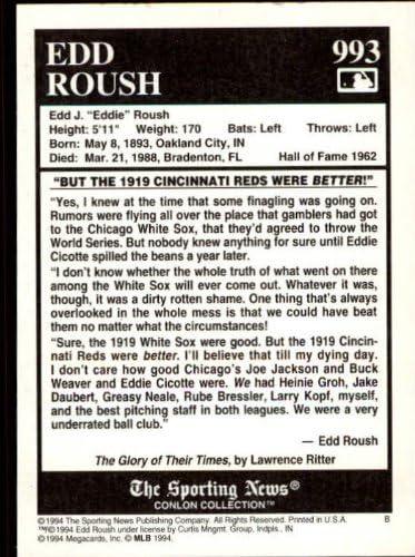 1994 Conlon TSN Baseball Card #993 Edd Roush