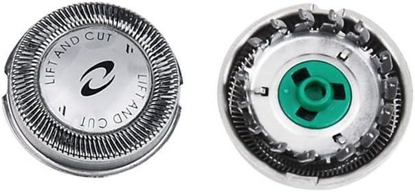 YaoKang 3 x Doble Cuchilla Cabezales de Afeitado para Philips HQ7325 HQ7340 HQ7360 HQ7390 HQ64 Shaver Heads: Amazon.es: Hogar