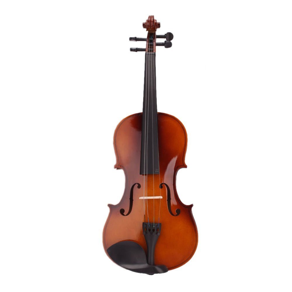 SODIAL(R) 4/4 Full Size Natural Acoustic Violin Fiddle with Case Bow Rosin 057336
