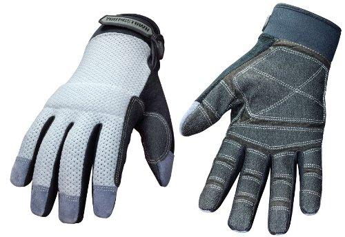 [Youngstown Glove 04-3070-70-M Mesh Utility Plus Performance Glove Medium, Gray] (Youngstown Mechanics Plus Gloves)