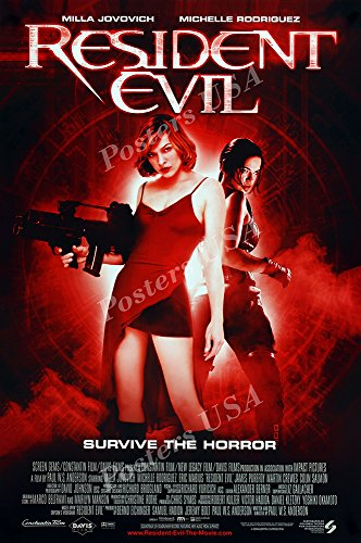 "Posters USA - Resident Evil Bio Hazard Original Movie Poster GLOSSY FINISH - MOV470 (24"" x 36"" (61cm x 91.5cm))"