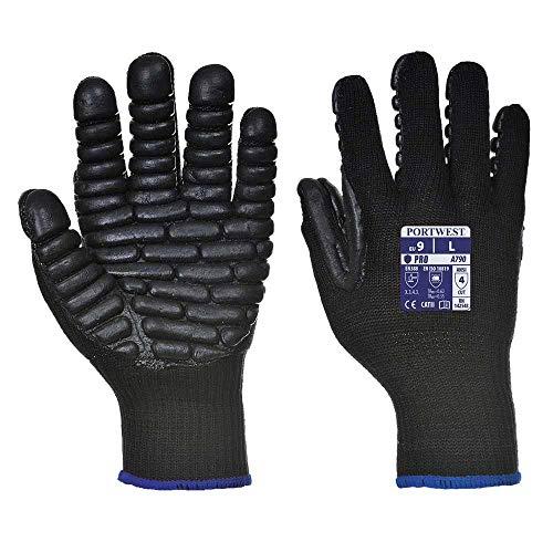 Portwest Anti-Vibration Glove - A790 (XL, Black)