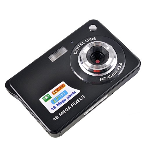 PowMax WW-49 2.7 Inch TFT 8X Optical Zoom 18MP 1280 X 720 HD Anti-shake Smile Capture Digital Video Camera(Blak)