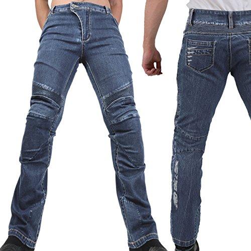 Motorradhose Jeans -Ranger- Leicht Dünn Herren Sommer Textil Jeanshose Slim Fit Motorrad Textilhose Männer Eng Stretch