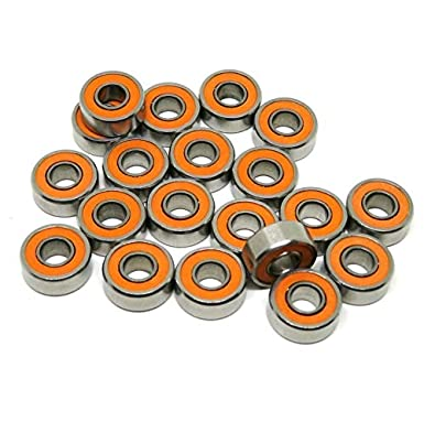 Ochoos 5pcs//10pcs ABEC-7 S697-2RS S697 2RS 7x17x5 mm Stainless Steel Hybrid si3n4 Ceramic Bearing for Fishing Reel 7175 697-2RS 697 Length: 10pcs