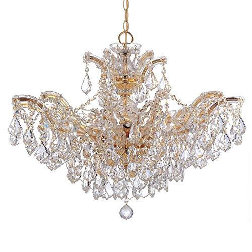 Maria Theresa 6 Light Chandelier Crystal Type: Swarovski Spectra, Finish: Polished Gold