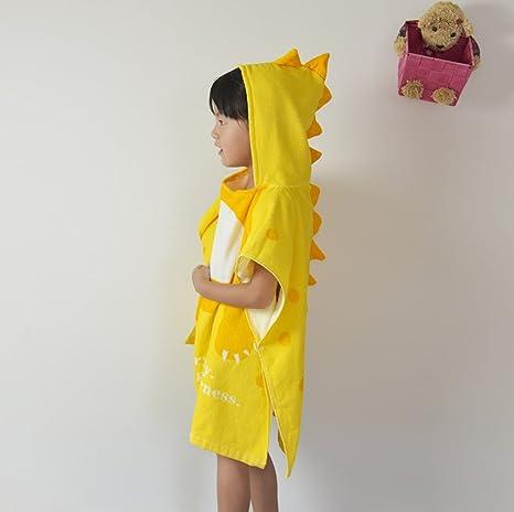 Dinosaur - Poncho Toalla para niños Cambiador con Capucha, Poncho de Microfibra con Capucha,