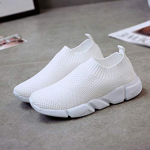 Corriendo De Deportivos Zapatos Suela Mujer Zapatos Blanco Casual Malla Antideslizante En ALIKEEY Exterior Confortable pWqT77