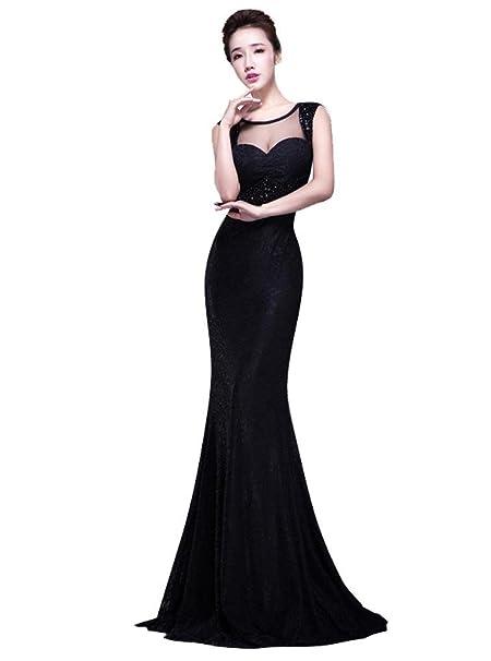 Vestido negro corte corazon