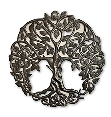 Amazoncom Tree Of Life Metal Wall Art Contemporary Iron Artwork