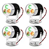 TSSS 3W LED Red/Green/Blue Beam Spotlight Pinspot Stage Lighting Effect for DJ Mirror Ball KTV Discos Party,4 Pack
