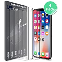 4 Pack LK iPhone X Screen Protector Tempered Glass