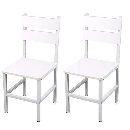 bar chair Silla Moderna Y Minimalista De 2 Piezas, De Hierro ...