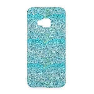 Waves HTC One M9 3D wrap around Case - Design 7