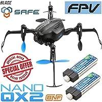 Blade BLH9180 Nano QX2 FPV BNF Mini Quadcopter w/ 2X Lipo Battery / Camera Drone