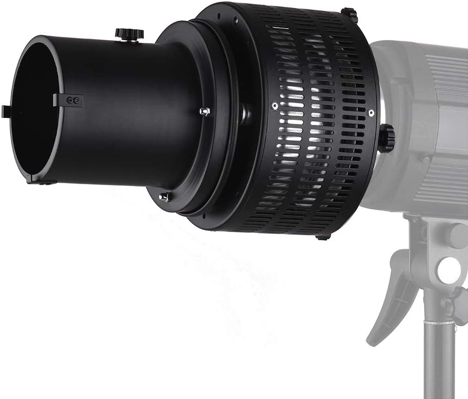 Andoer Metal Bowens Mount Focusing Snoot Reflector Flash Diffuser for Photography Artistic Effect