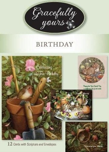 Gracefully Yours Favorite Things Birthday Greeting Cards Featuring Barbara Mitchell 12 4 Designs