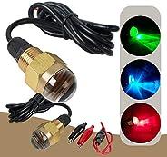 "ixaer 12V Underwater Boat Light Bright LED Drain Plug Light 1/2"" NPT Waterproof Marine LED Boating Lights"