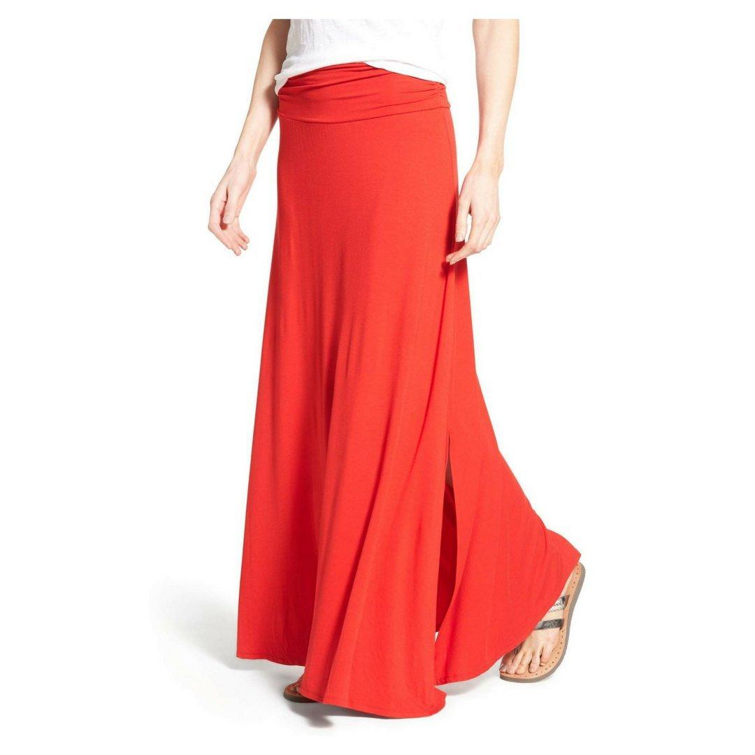 60% cheap world-wide renown new items Bobeau Ruched Waist Side Slit Maxi Skirt Sz XS at Amazon ...