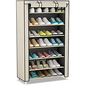 udear 8tier portable shoe rack organizer 21pair shoes storage tower with dustproof