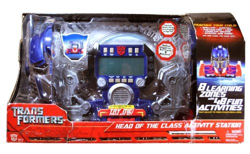 Transformer Station (Hasbro Year 2007 Transformers Movie Series Head of the Class Activity Station with S.M.A.R.T Chip Technology, Translation from English to Spanish on Select Words, 8 Learning Zones and 48 Fun Activities)