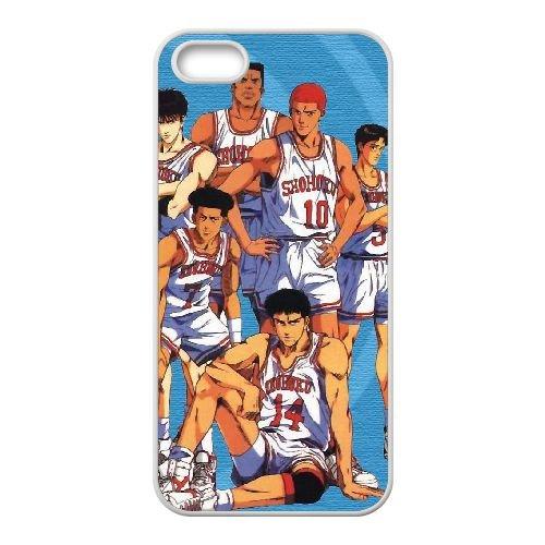 Q6T49 Slam Dunk R7D2UT coque iPhone 5 5s cellule de cas de téléphone couvercle coque blanche RX5KNJ7UU