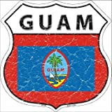 Guam Country Flag Highway Shield Metal Sign HS-266