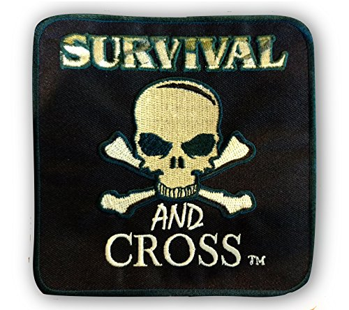 "Iron On Patches - Large Embroidered Custom Patches - Tactical Morale Patch for Military Biker Vest or Gym Bags - 4"" x 4"" - Survival and"